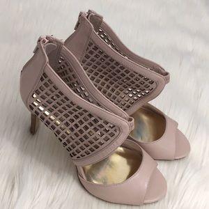 Jessica Simpson Stiletto Heels Blush 8B Back Zip